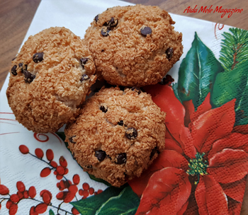 Biscotti al cocco e cioccolato fondente | Aida Mele Magazine